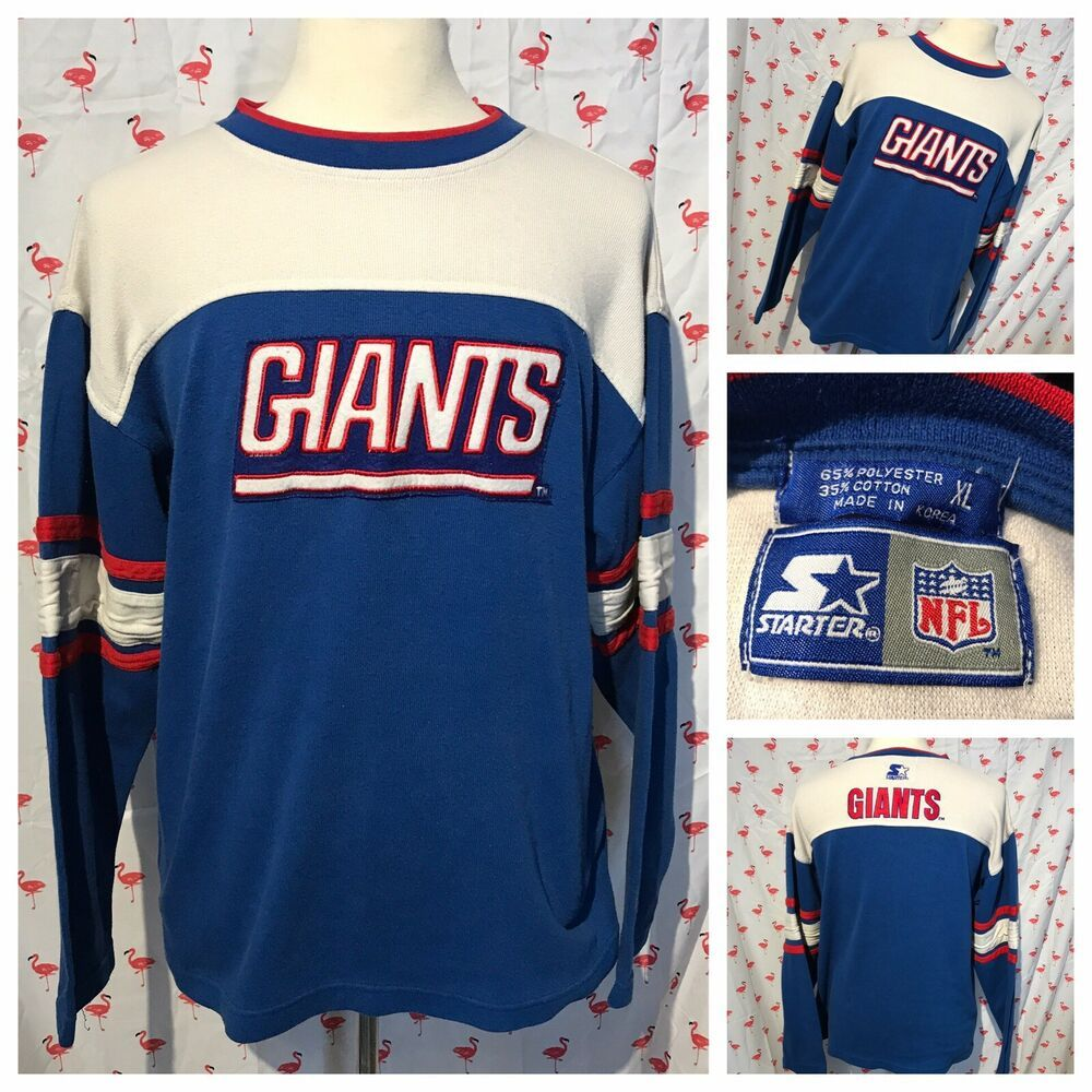 premium selection 7c142 db916 Vintage New York Giants Men XL Starter Block Knit Top A5060 ...