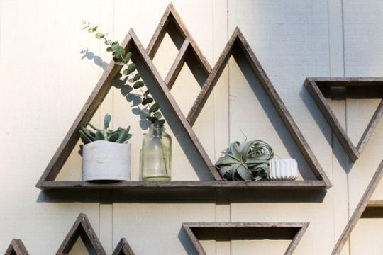 Sosuperawesome Mountain Shelf Geometric Shelves Triangle Shelf