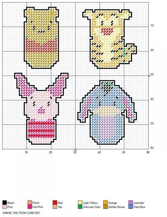 pooh, tigger, piglet, eyeore