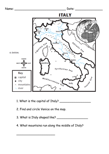 Italian Activity Sheet Free Printables Google Search Our Table