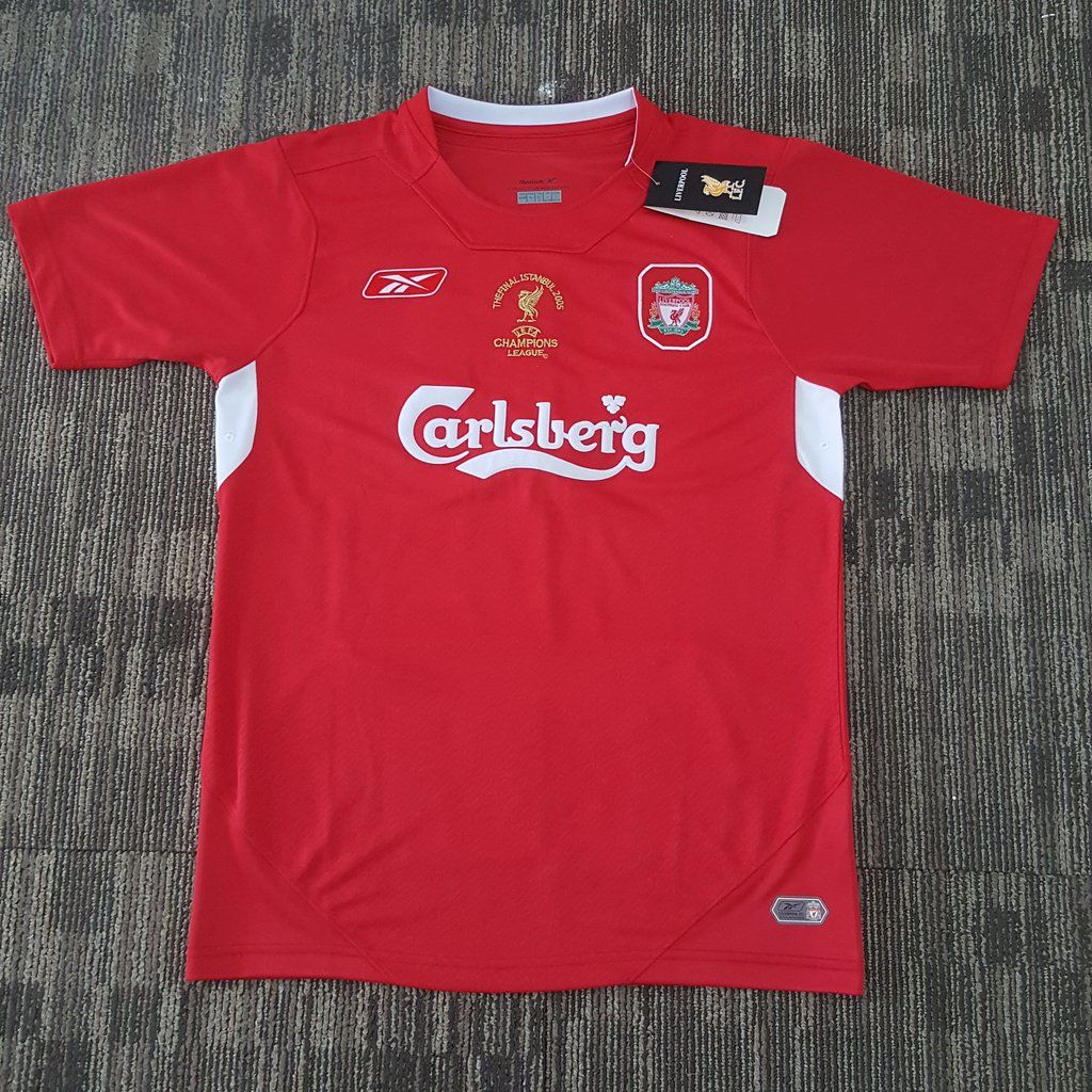65ead6e79ce 2004 05 Liverpool Home UCL Final Istanbul Shirt