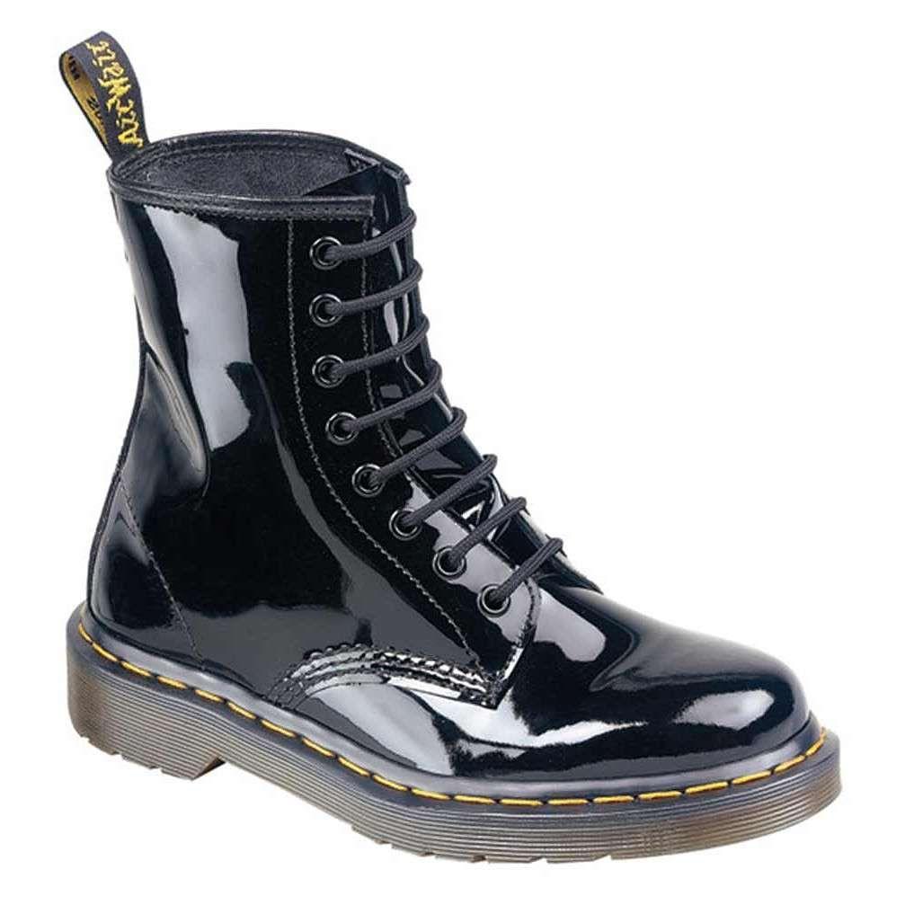 Dr Martens 1460 8 Loch Schwarz Lack Mode In 2019 Dr Martens Schuhe Lederstiefel Und Stiefel