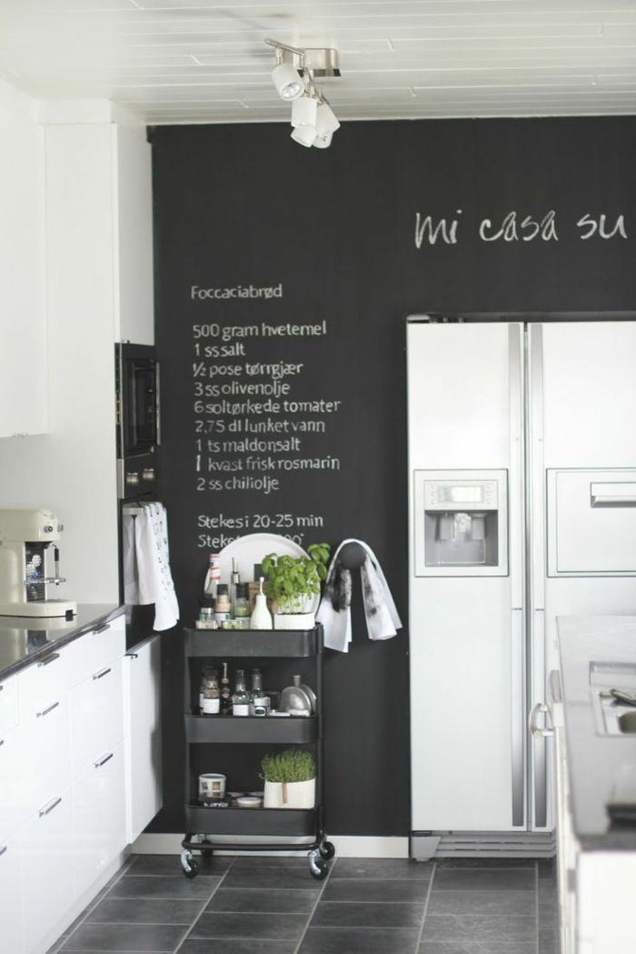 68 Idees Creatives Avec L Ardoise Murale Archzine Fr Cuisines