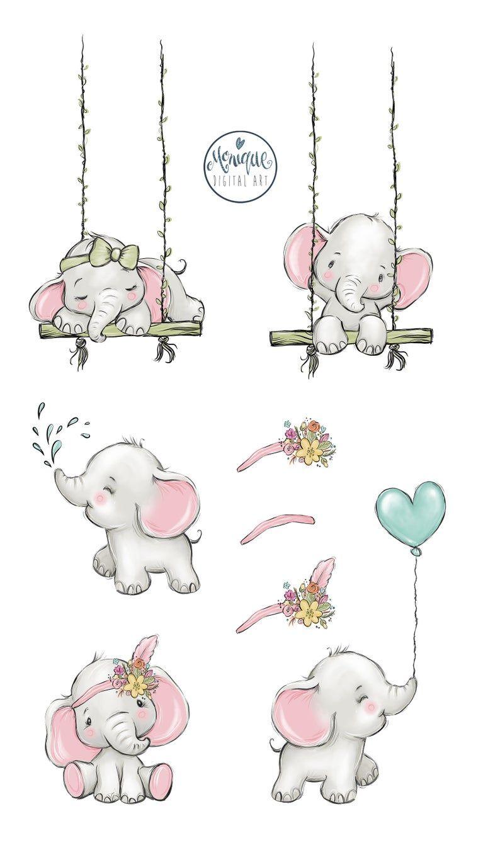 Elephant Clipart : elephant, clipart, Elephant, Clipart, Drawing,, Drawing