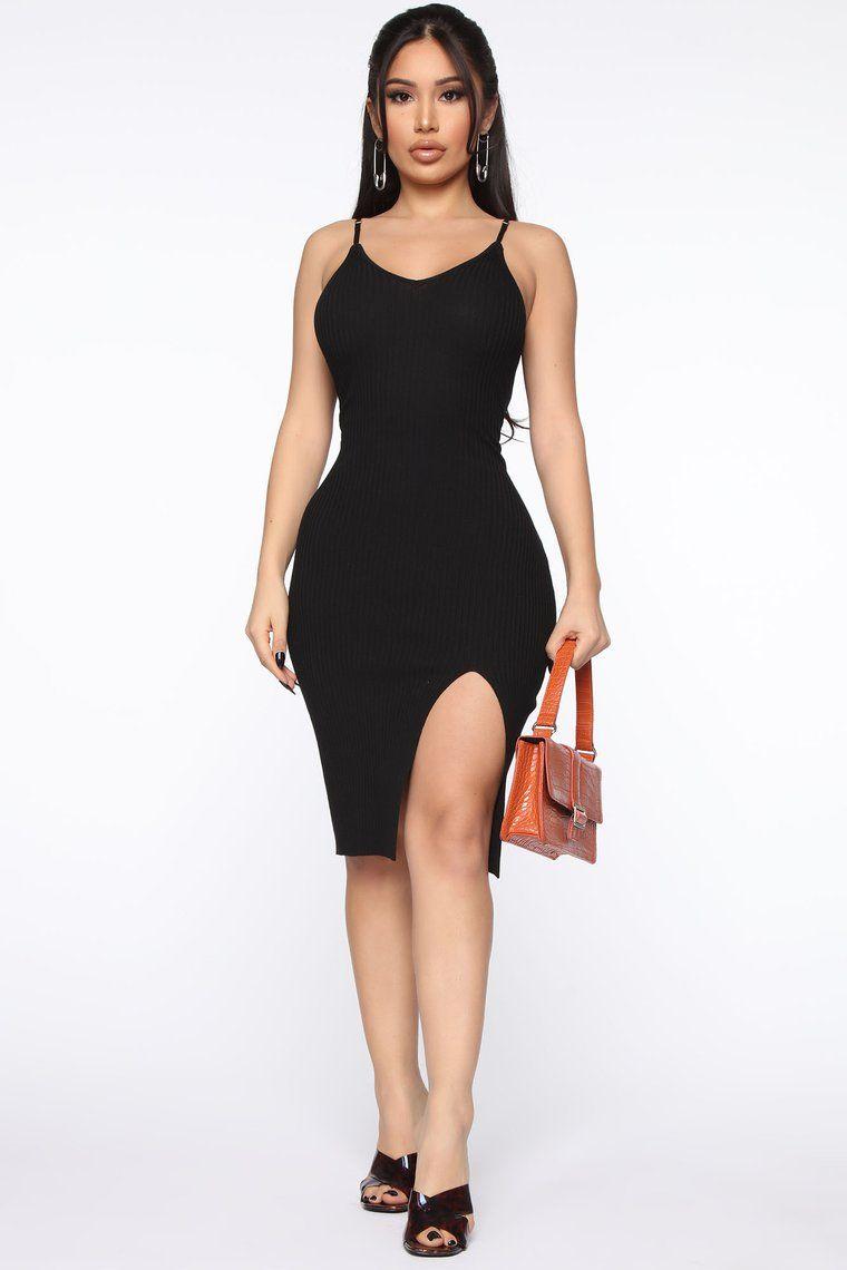Simply Simple Sweater Midi Dress Black in 2020 Black