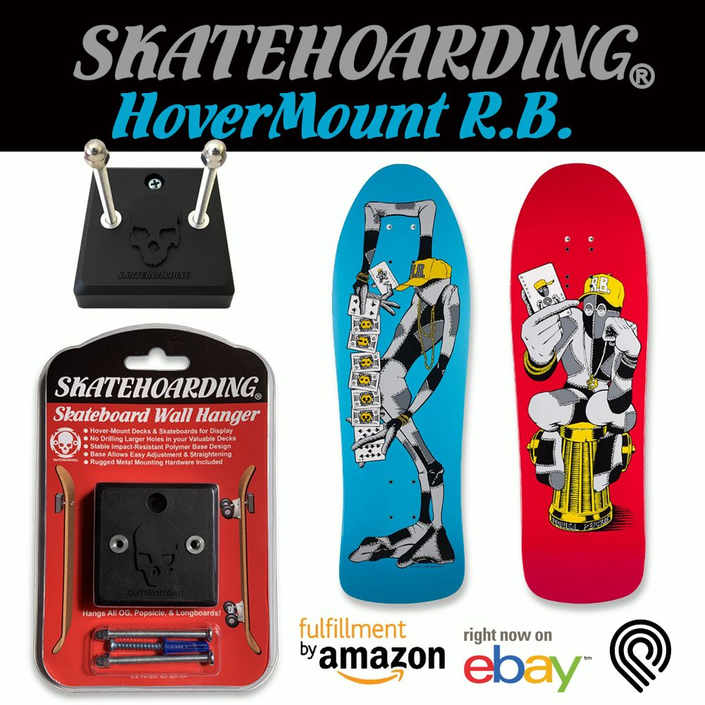 Hovermount skateboards like a champ wall hanger