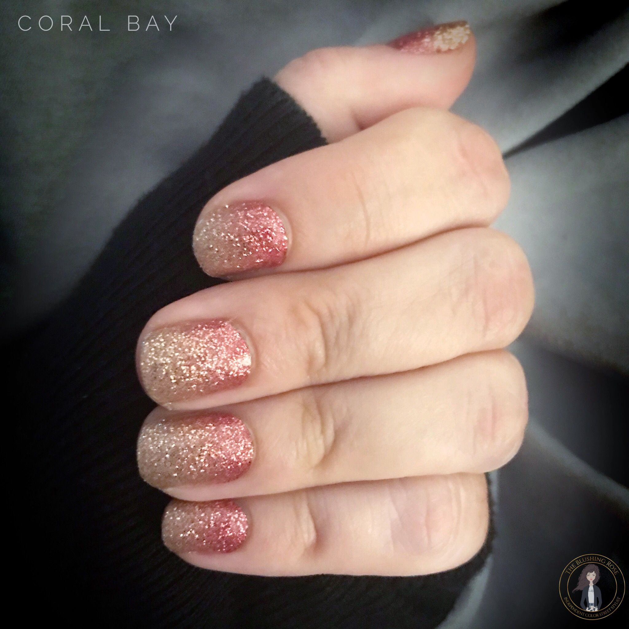 Rose Gold and Gold Manicure. Design used = Coral Coast ...