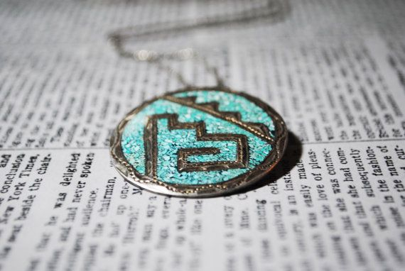 Vintage Turquoise & Silver Tribal Necklace by ladyivyvintage, $45.00