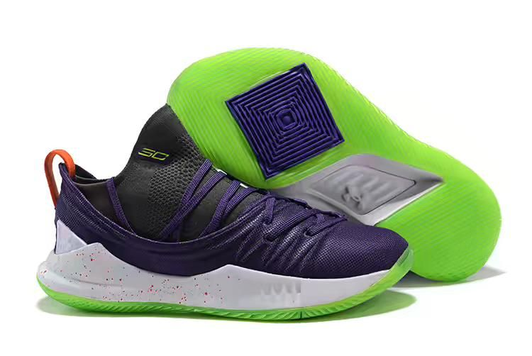 outlet store 4f972 6db2d 2018 Steph Curry Under Armour Curry 5 Low Purple/Black-White ...