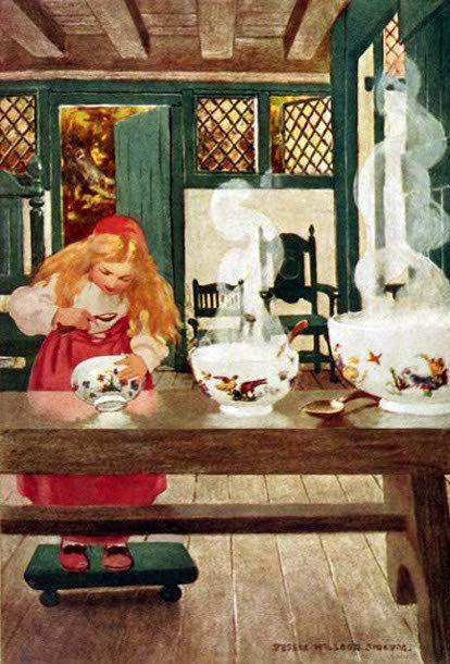 Goldilocks and the Three Bowls, Jessie Willcox Smith (1863