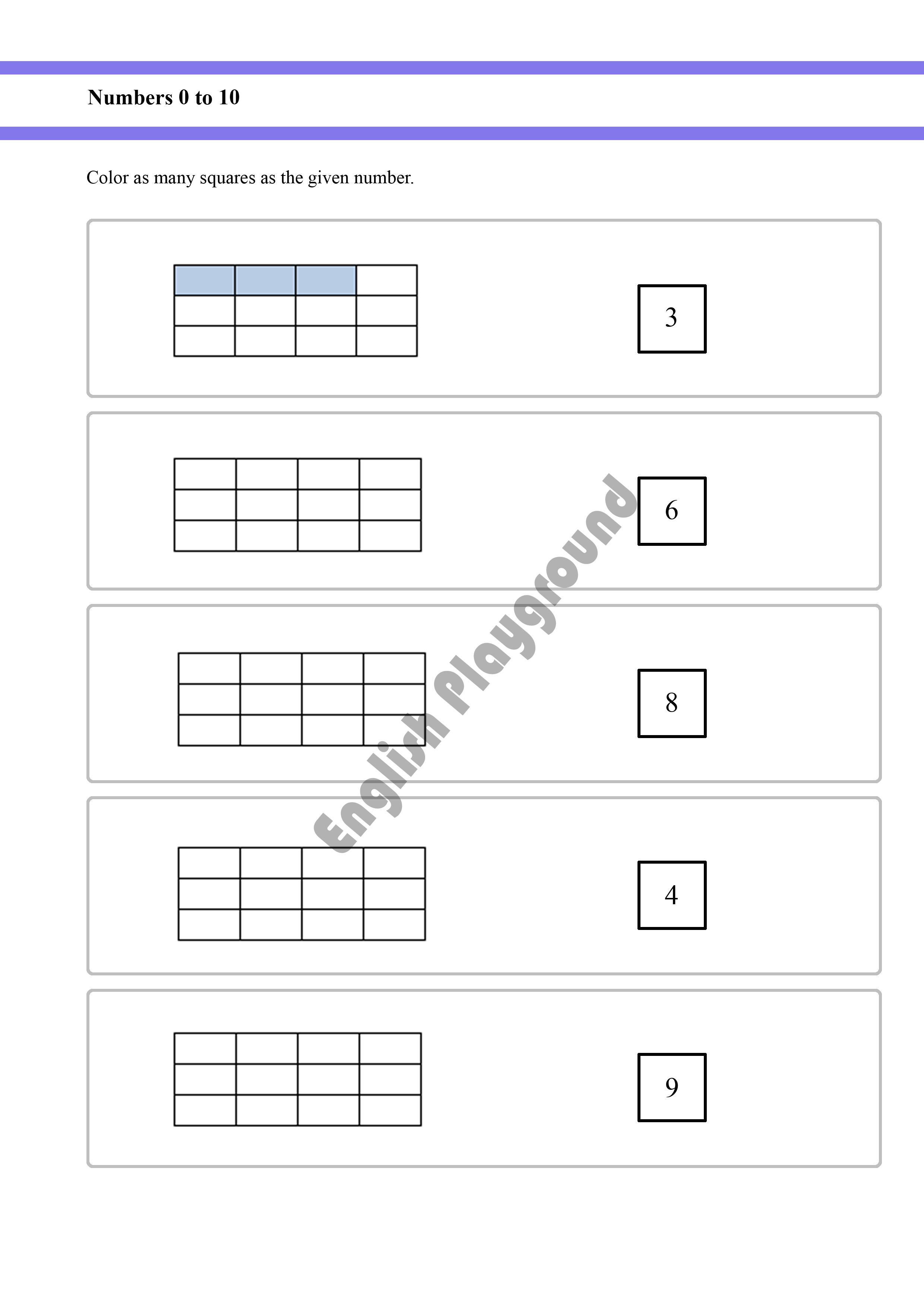 Counting up to 10 Worksheet for Reception and Year 1 students ...