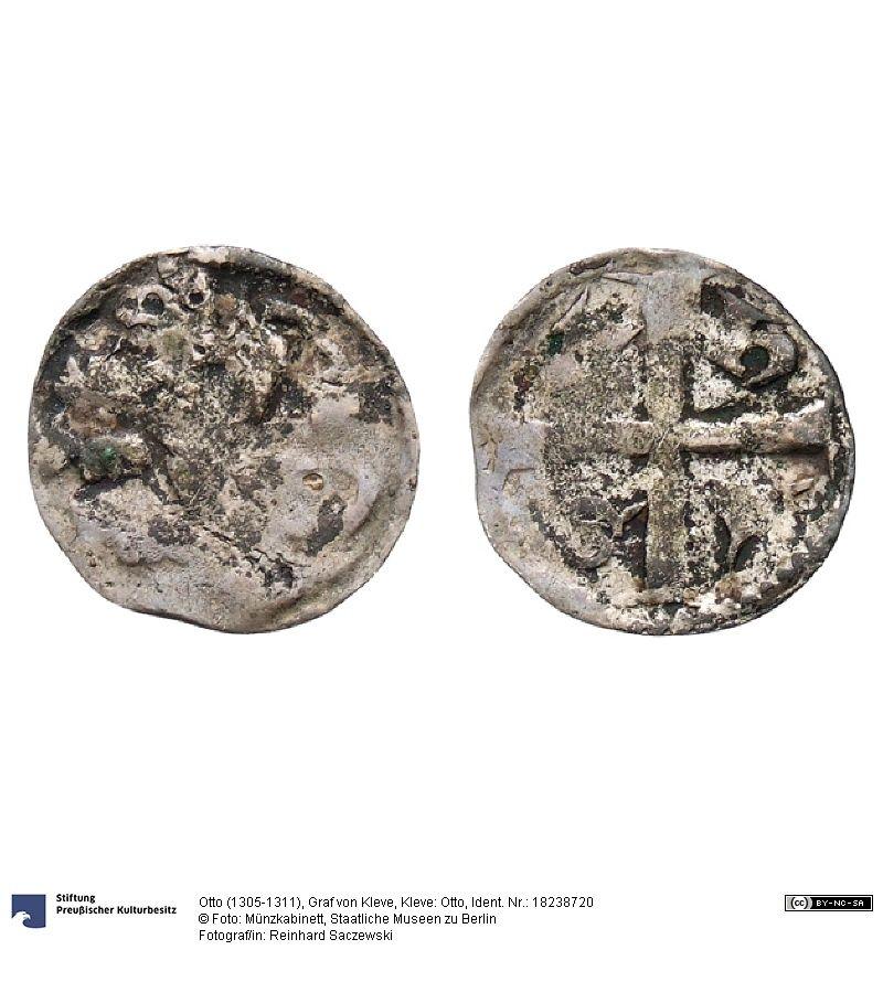 Kleve Otto Münze Otto 1305 1311 Graf Von Kleve Grafschaft