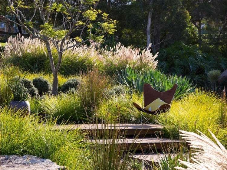 Am nagement paysager r ussi jardin avec piscine naturelle for Photo jardin paysager