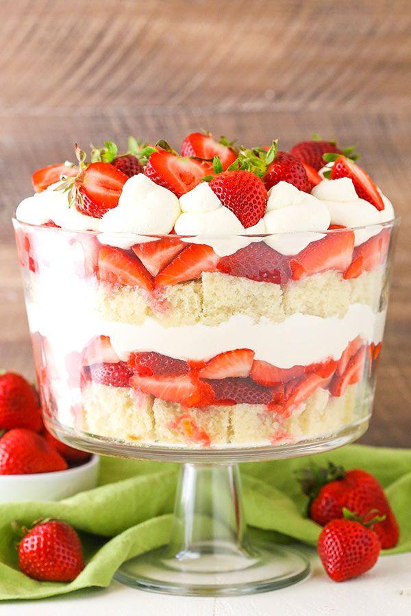 Strawberry Shortcake Trifle Recipe | Easy Strawberry Desserts