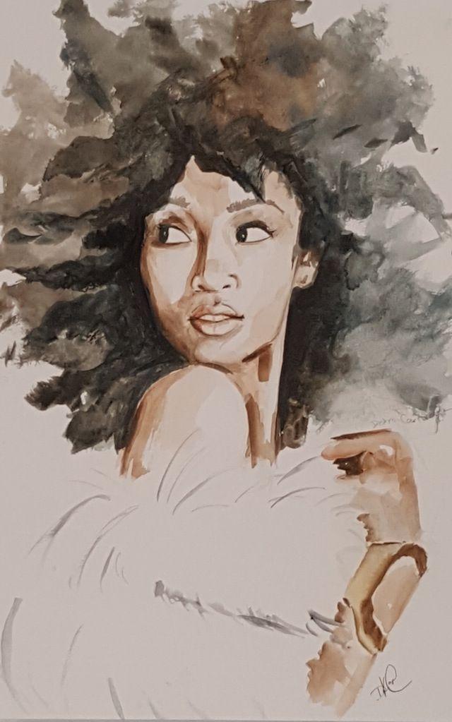 Artist Uses Watercolors To Spotlight Black Femininity Black Girl