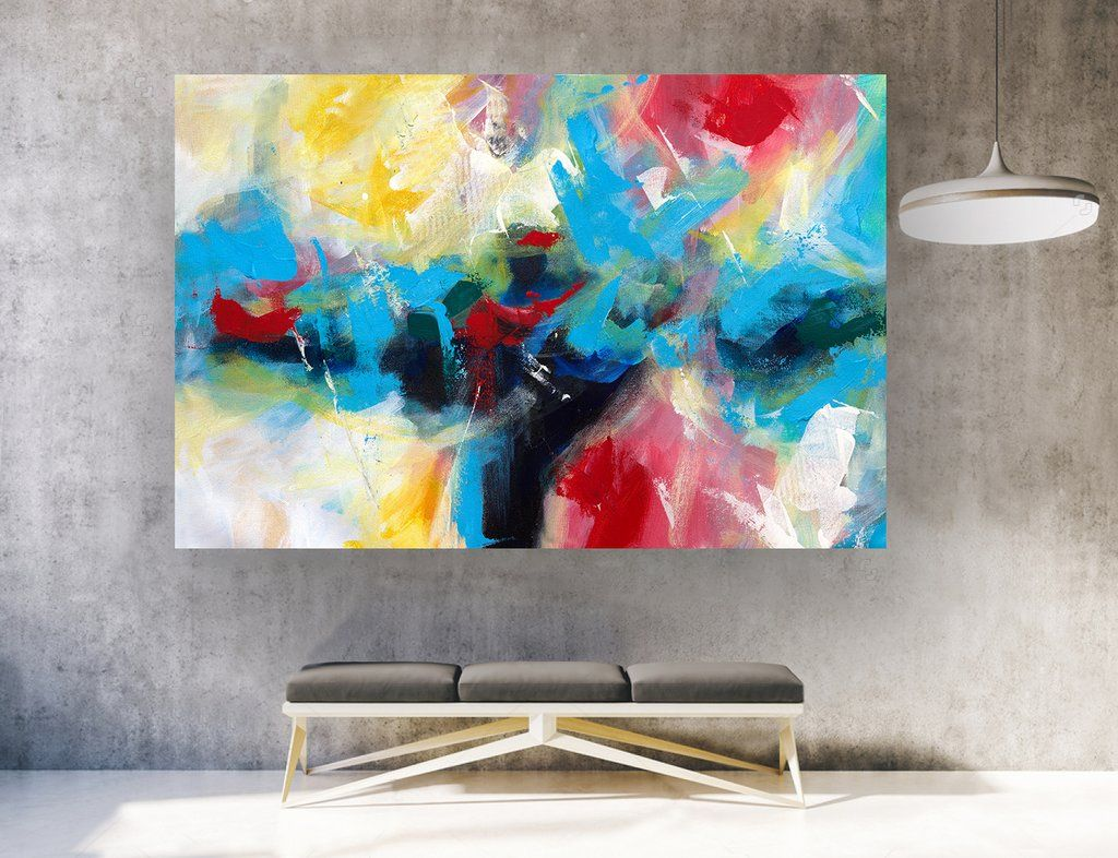 Large abstract wall art horizontal la  also decor in rh pinterest
