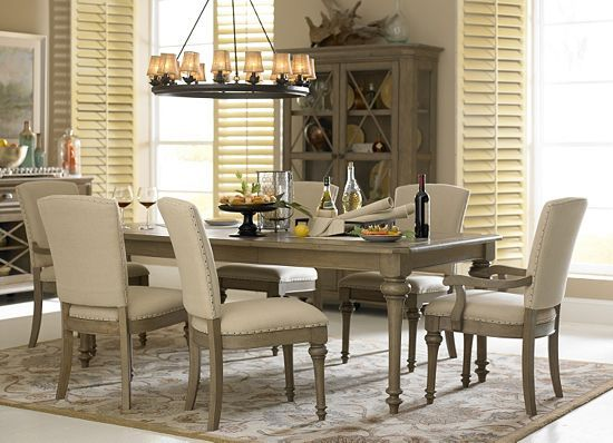 Entertain In Style With This Havertys Lakeview Dining Rooms Rustic Gets Refined By
