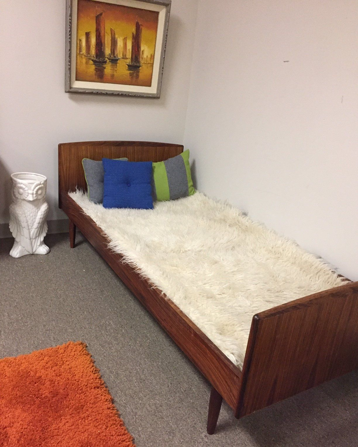 Mid Century Danish Rosewood Twin Bed Rosewood Furniture Mid