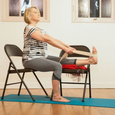 making forward bends accessible  yoga therapy chair yoga