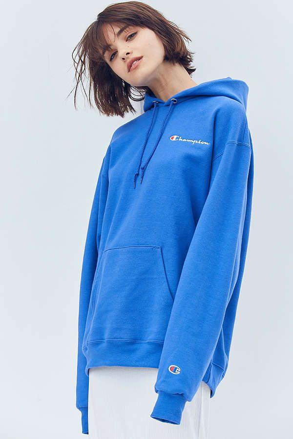 b3303e6b40b Slide View  6  Champion + UO Powerblend Mini Logo Hoodie Sweatshirt