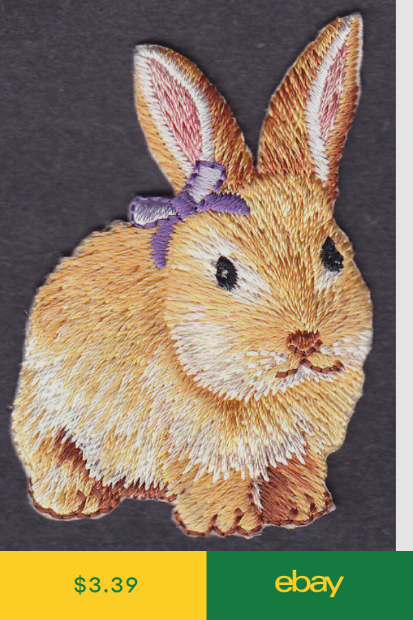 RABBIT Iron On Patch //Bunny Forest Animal