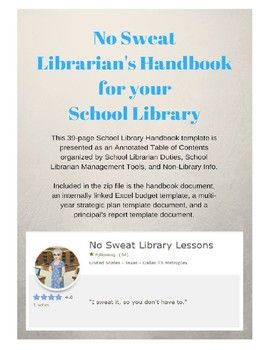 Check Out My Template To Create Your Own Informational Handbook For You School