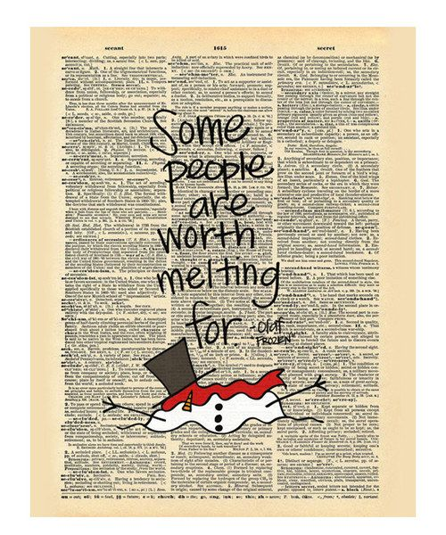 Look at this 'Worth Melting For' Dictionary Print on #zulily today!