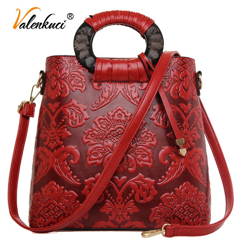 56db2bba89f6 Chinese Style 2016 Autumn And Winter Fashion Handbag Bag Retro Embossed  Flower Log Handbags Sac A Main Femme De Marque Celebre