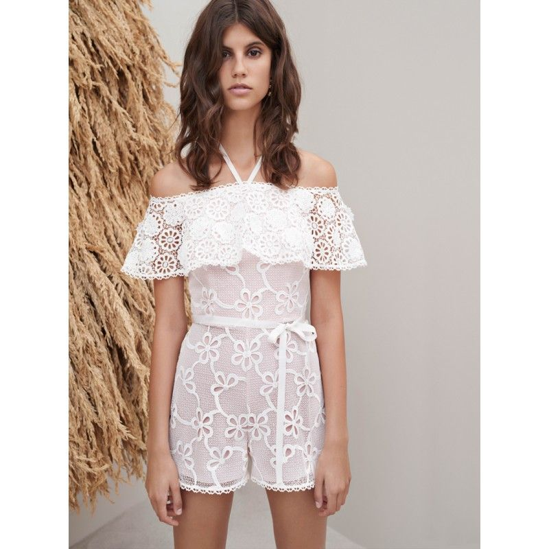 f81057432c2 Alexis Clothing Boriana Off the Shoulder Lace Playsuit Romper
