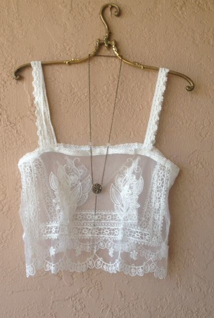 Image of Kimchi & BLue mesh lace bohemian crop Coachella festival top $45