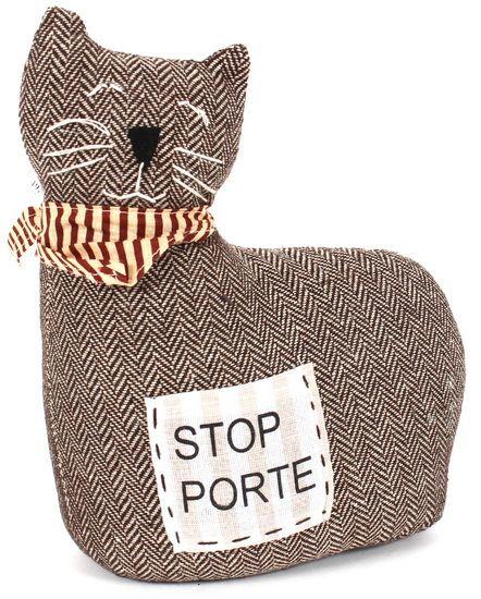 Cale porte chat marron cale porte pinterest cale porte marrons et portes - Cale porte tissu ...