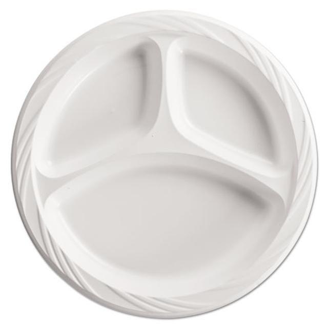 Lightweight Plastic Dinnerware 3 Comp Plate 9  Round White Tags Dinner Plates; Plates/Plastic; Plastic Dinner Plates;White Dinner Plates; ...  sc 1 st  Pinterest & Lightweight Plastic Dinnerware 3 Comp Plate 9