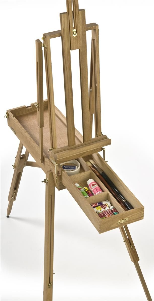 24-1/2 x 72-3/4 x 38-Inch, Natural Wood Painting Easel ... on Easel Decorating Ideas  id=91066