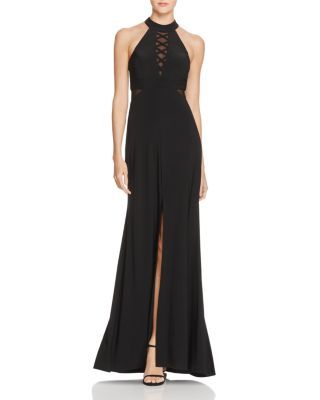 Avery G Illusion Crisscross Gown Bloomingdales Evening Wear