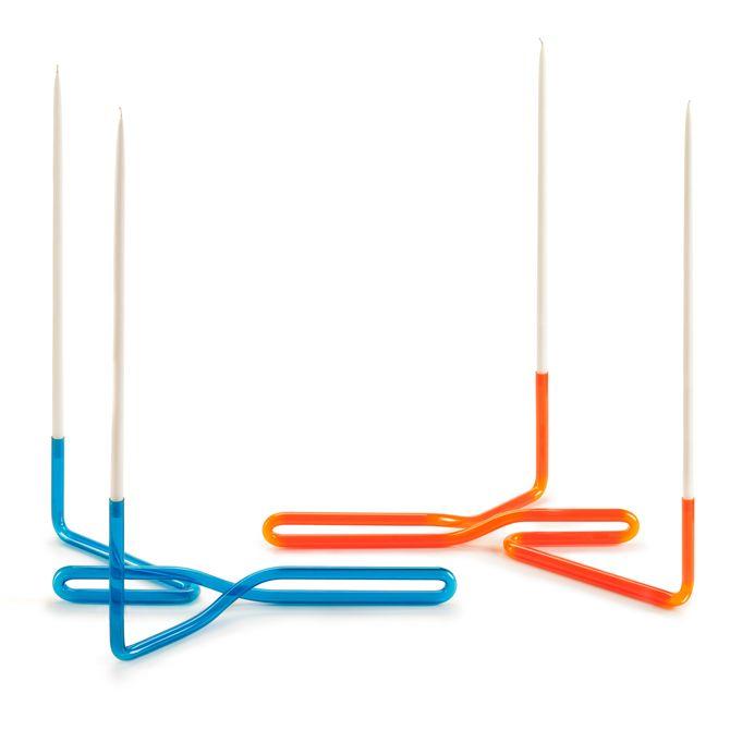 Cat Merrick neon candlesticks