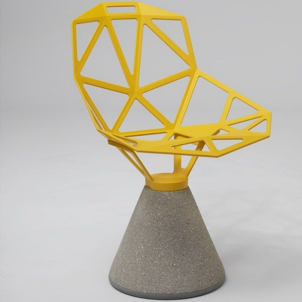 Grcic Chair One konstantin grcic magis chair one concrete base design