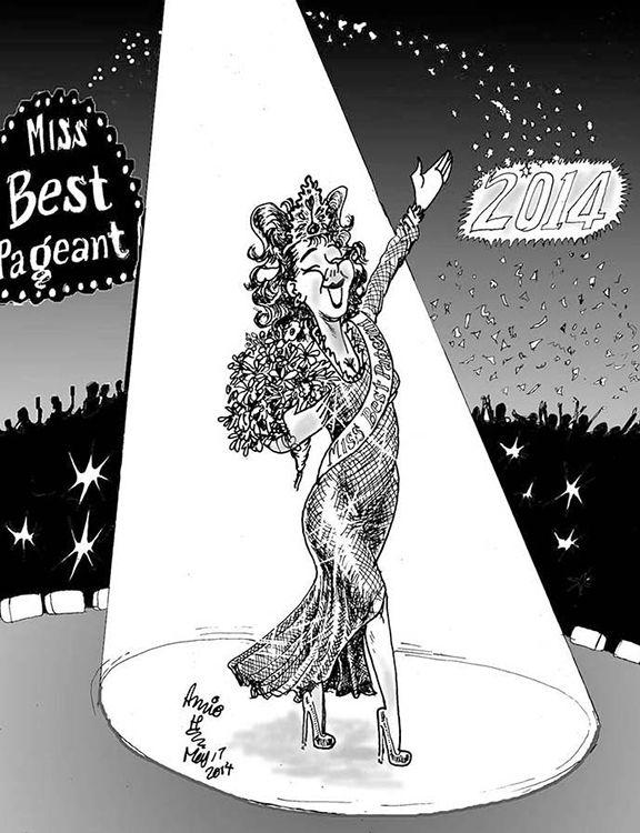 The Scene Cartoon Beauty Queen Pageants May 17 2014 Cartoon Sketches Art