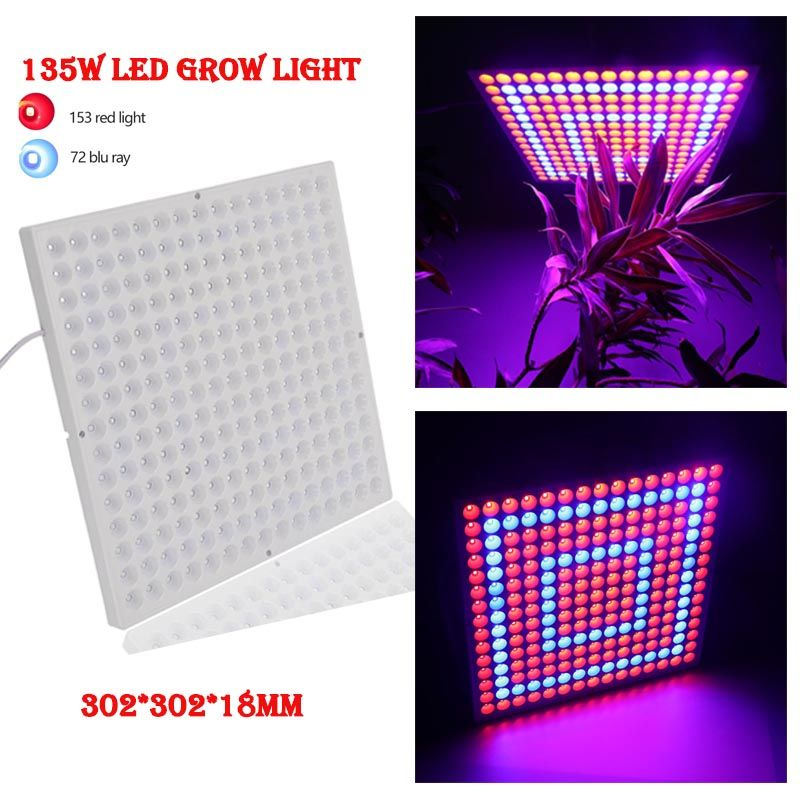45w 135w Led Plant Grow Panel Light Ac85 265v Smd3528 Red Blue For Flowering Plant Indoor Grow Box Hydroponics Lamp Led Grow Lights Planting Flowers Grow Boxes