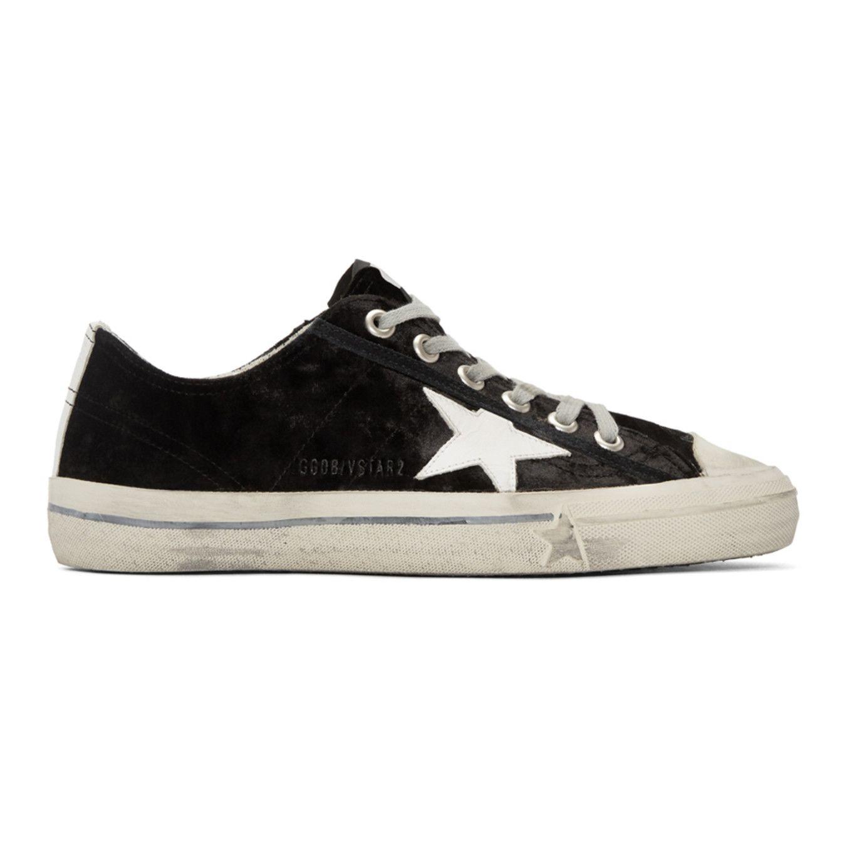 03125b3ff7089 Golden Goose - Black Velvet Superstar Sneakers