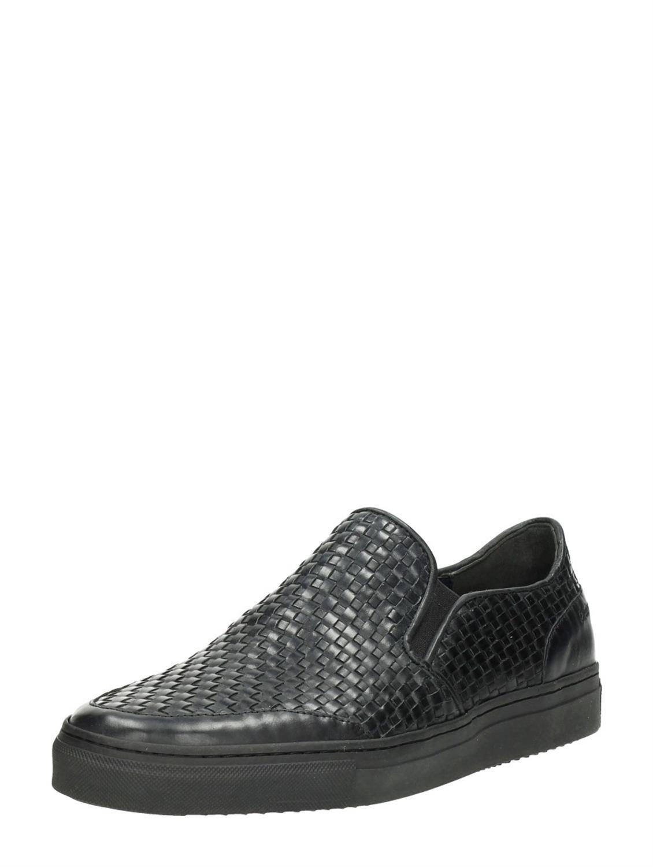 Chaussures Noires Avec L'entrée Pour Les Hommes hsemU4