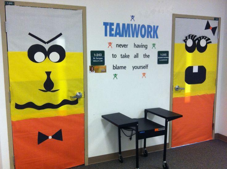Yellow Classroom Decor : Classroom door decorations for halloween with halloween classroom