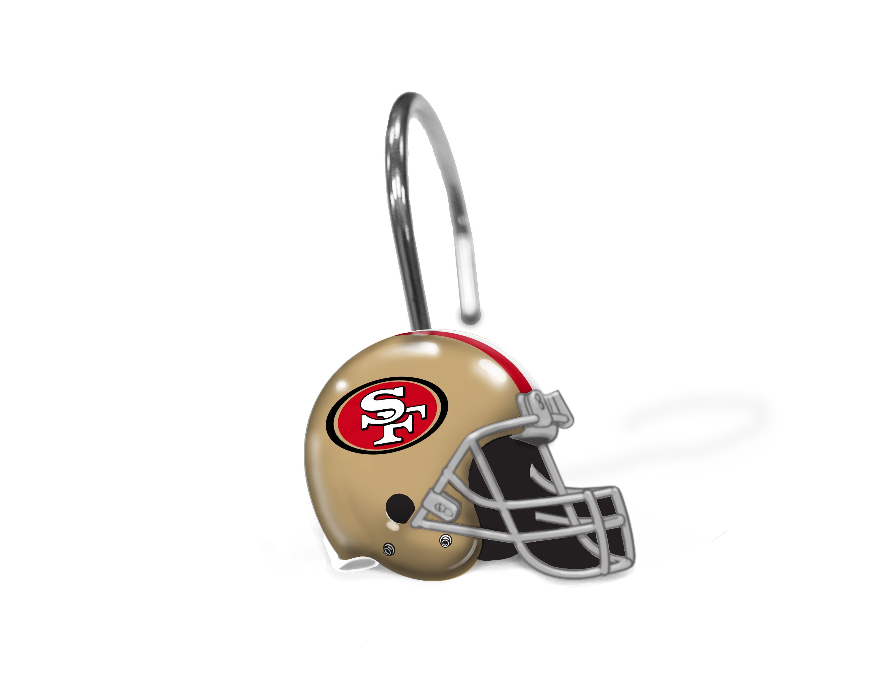 49ers Shower Curtain Rings 12 Rings Per Box 1 Shower Curtain