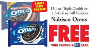 image about Oreo Printable Coupons titled Pin by way of I Crave Freebies upon Discount coupons Price tag chopper