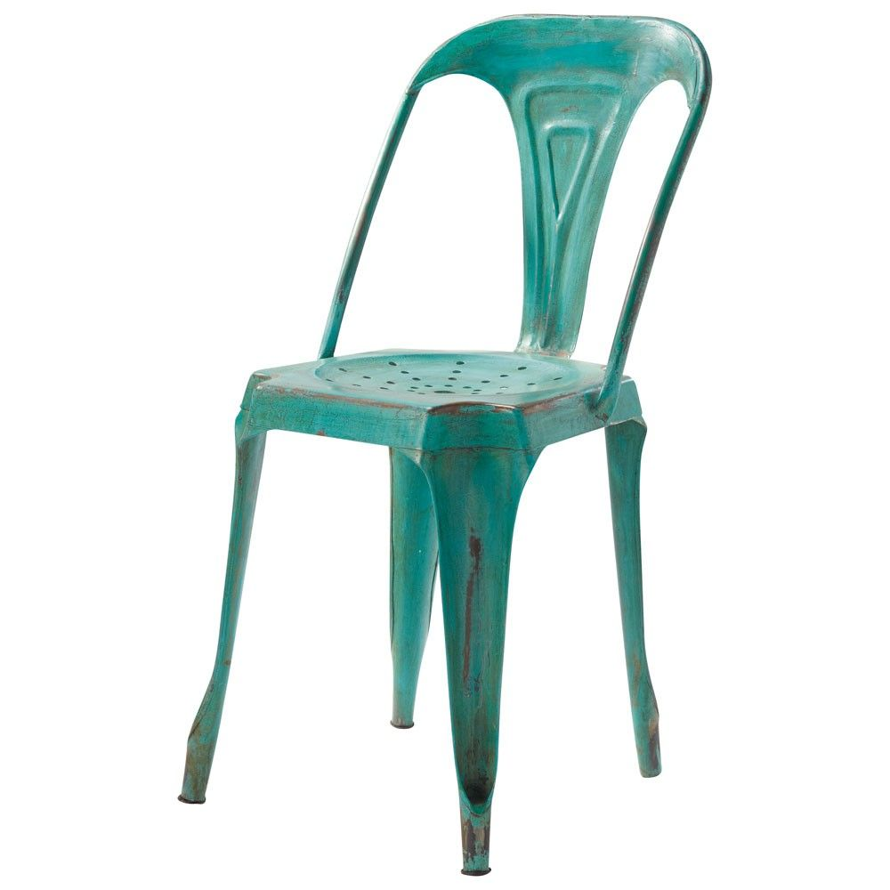 green chair industrial style maisons du monde | industrial
