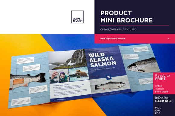 Product Mini Brochure by DIGITAL INFUSION on @creativemarket