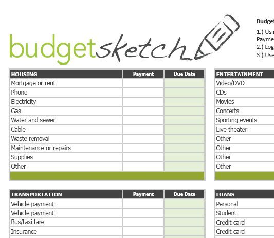make household budget | printables | Pinterest