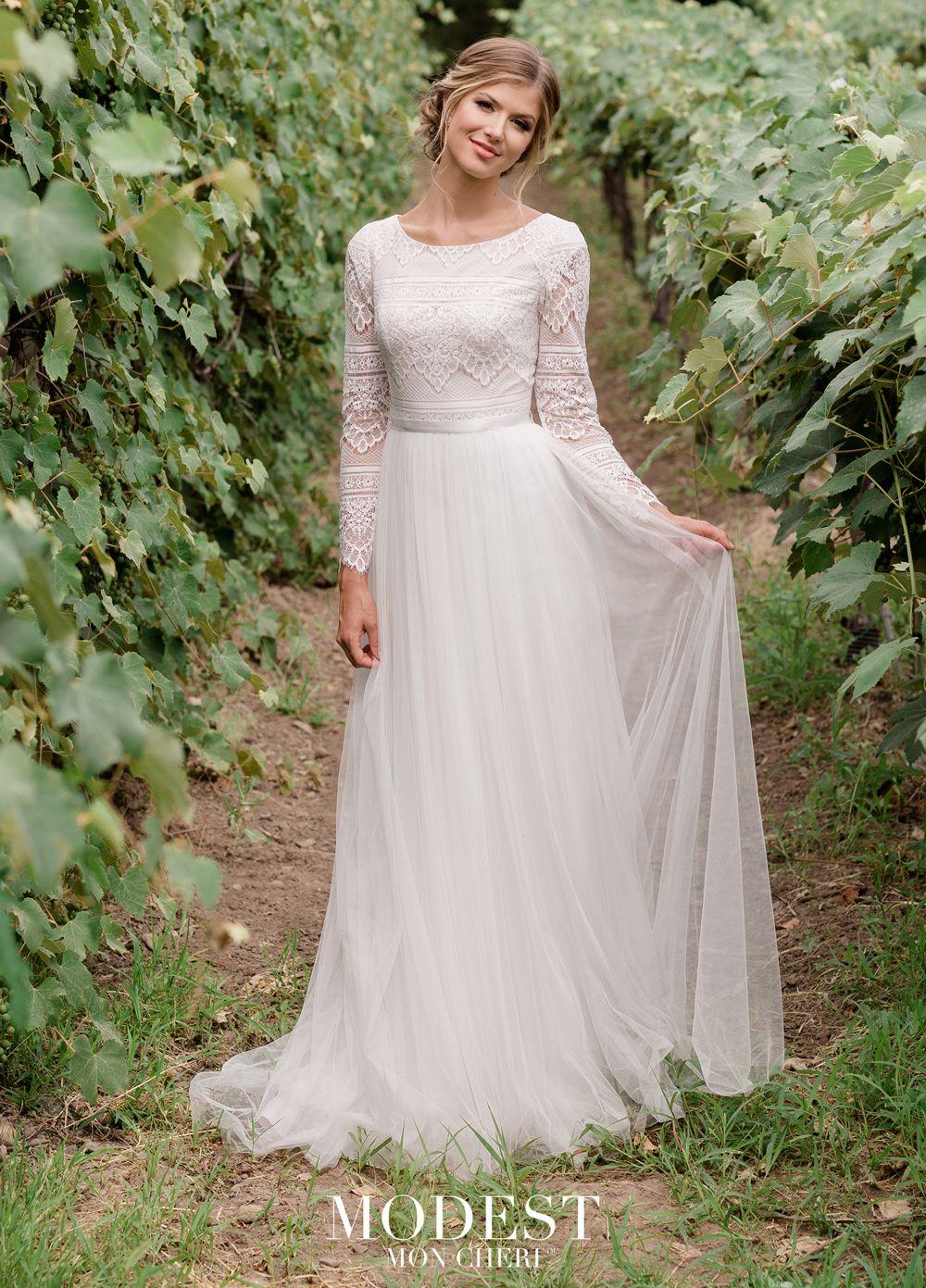 Modest Bridal By Mon Cheri Tr11976 Lace Top Wedding Gown Mon Cheri Wedding Dresses Lace Top Wedding Lace Top Wedding Gowns [ 1391 x 1000 Pixel ]