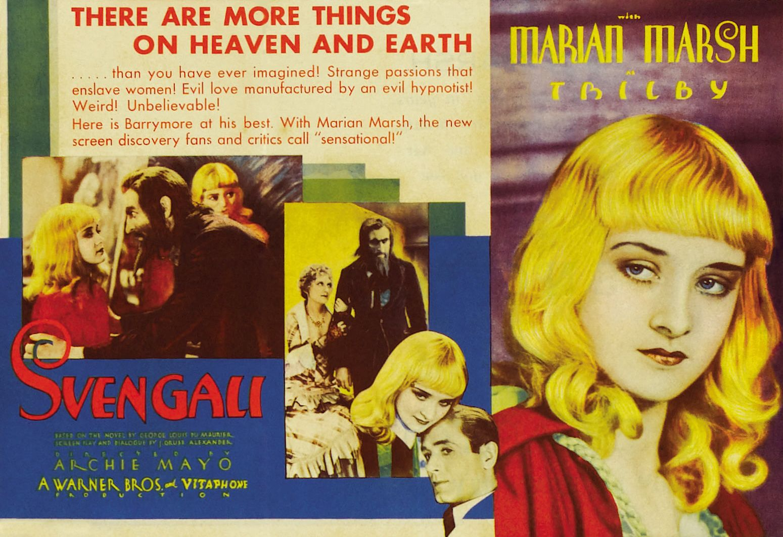 Svengali (1931) John Barrymore  Great Film! Barrymore is fantastic.