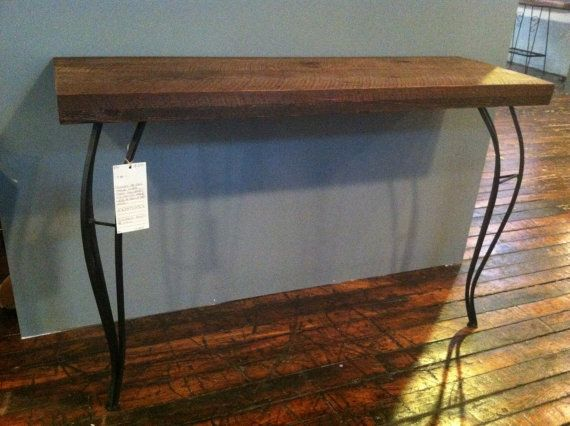 SWEET Sustainable Reclaimed Wood Console Table or Hall by ReworxCT, $449.99