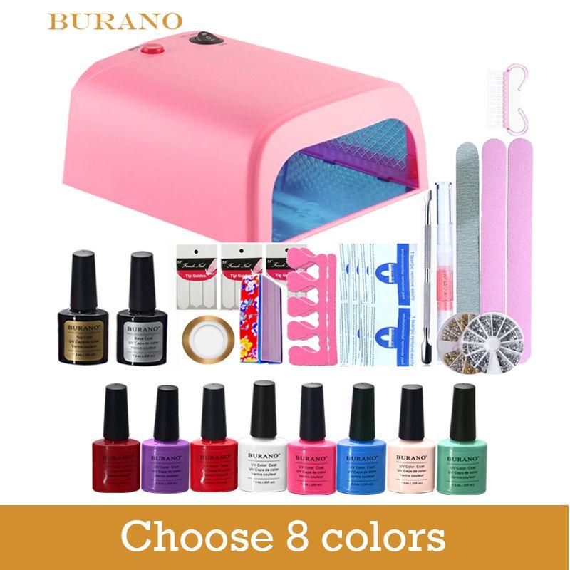 Burano New Arrival Hot Sale Soak-off Gel polish gel nail kit nail ...